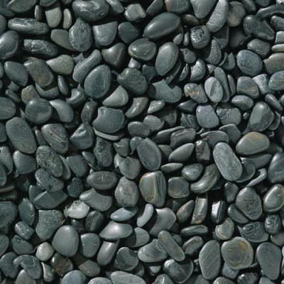 Dark Grey  polished pebbles